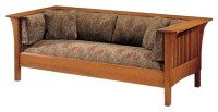 Stickley Oak Mission Classics Prairie Spindle Settle ...