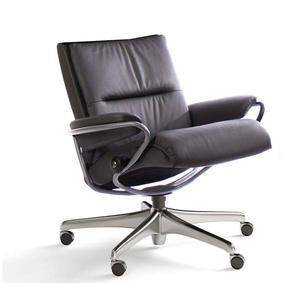 Low Back Office Chair Tokyo Contemporary Low Back Office Chair With Star Base By Stressless At Dunk Bright Furniture