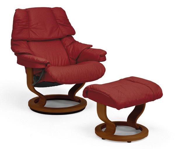 red recliner chairs eezy revolving chair stressless reno large ottoman paloma wine mahogany by