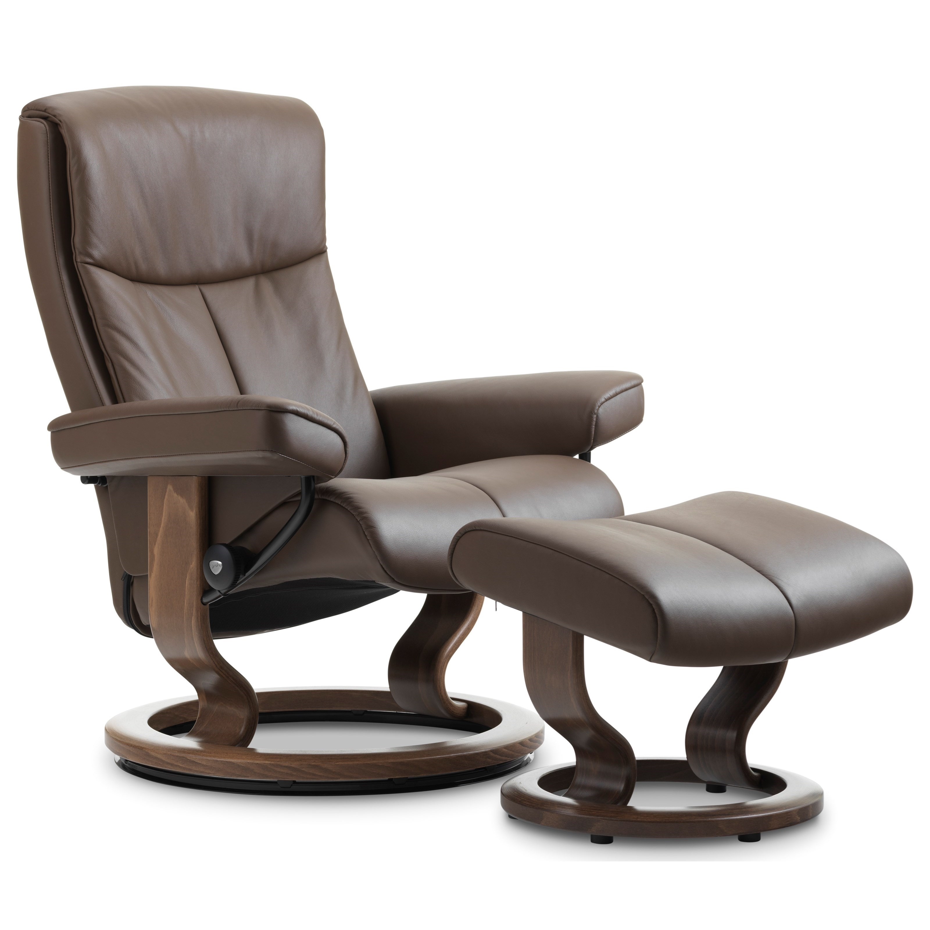 Classic Chair Peace Medium Reclining Chair Ottoman With Classic Base By Stressless At Hudson S Furniture