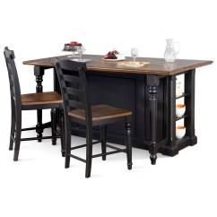Kitchen Island Sets Homestyles Sunny Designs Bourbon Trail 3 Piece Set With Gate Leg Trailthree