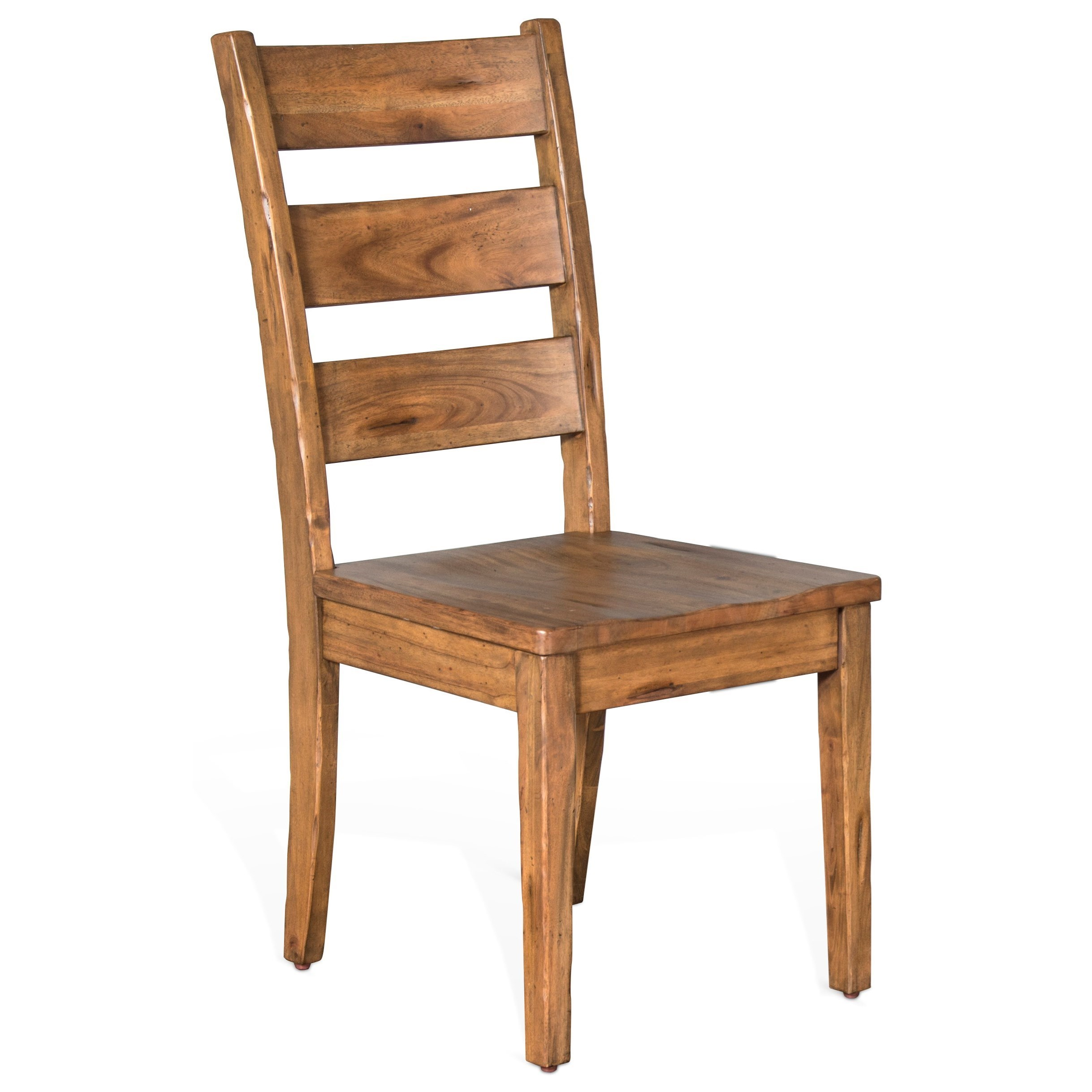 ladder back chair egg baby high sunny designs dry leaf 1508dl distressed mahogany ladderback with wood seat by