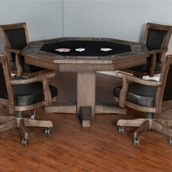 Poker Table Chairs With Casters Bedroom Sitting Sunny Designs Homestead Game Dining Set Homesteadgame
