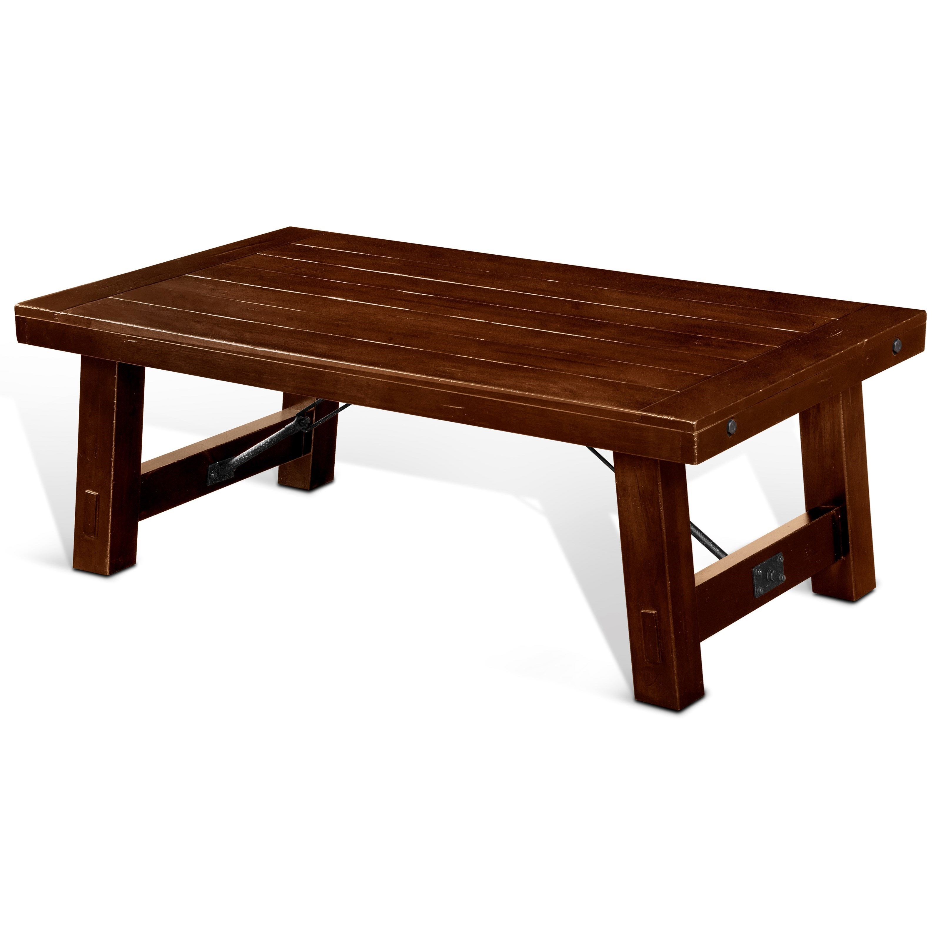 tuscany rustic coffee table with distressed finish by sunny designs at stoney creek furniture