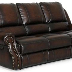 Reclining Sofa With Nailhead Trim Living Room Sets Sleeper Ldi 869 58 Transitional Rolled Arms And By