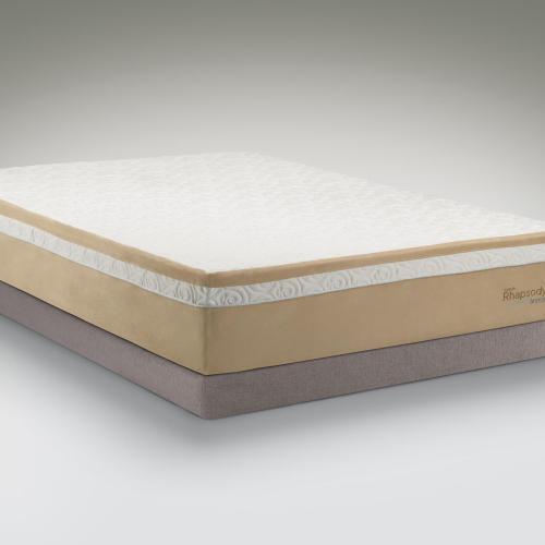 Tempur Pedic Contour Rhapsody Breeze Queen Medium Firm Mattress And Grey