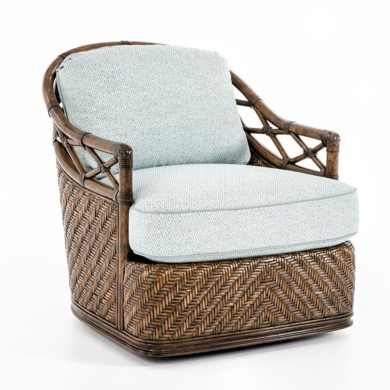 Wicker Swivel Chair Bali Hai Diamond Cove Swivel Chair With Wicker And Rattan Accents By Tommy Bahama Home At Baer S Furniture