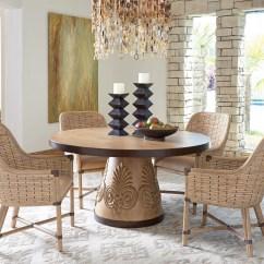 Banana Leaf Dining Room Chairs Sliding Bath Chair Tommy Bahama Home Los Altos Five Piece Set With Weston Table Altos5 Pc