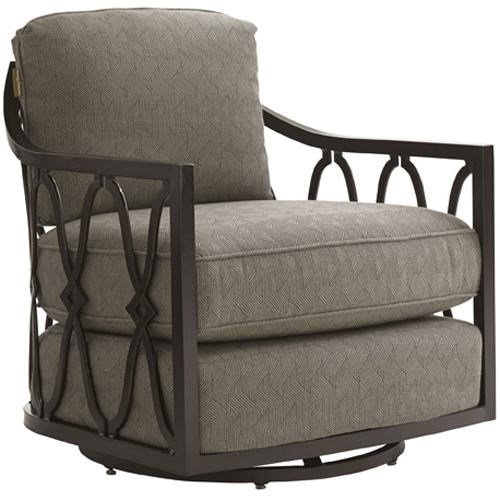 Swivel Tub Chair Black Sands Outdoor Swivel Tub Chair With Track Arms By Tommy Bahama Outdoor Living At Baer S Furniture