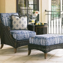 Outdoor Chair And Ottoman Classroom Covers Tommy Bahama Living Island Estate Lanai Woven Wicker Lanaioutdoor Lounge