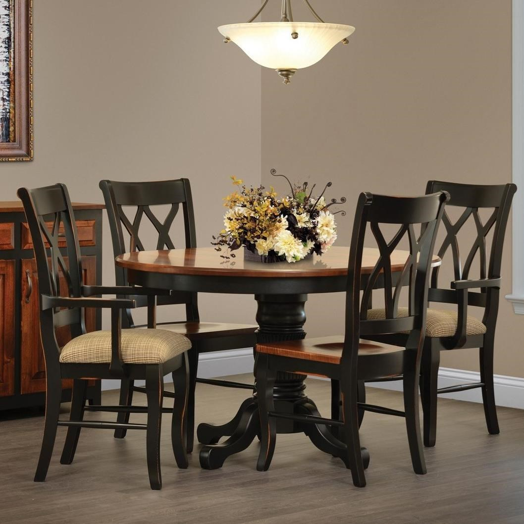 Black Dining Room Table And Chairs Ellis Cove Dining Table And Four Chair Set By Rotmans Amish At Rotmans