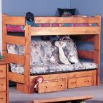 Trendwood Bunkhouse Twin Futon Bunk Bed Conlin S Furniture Bunk Beds