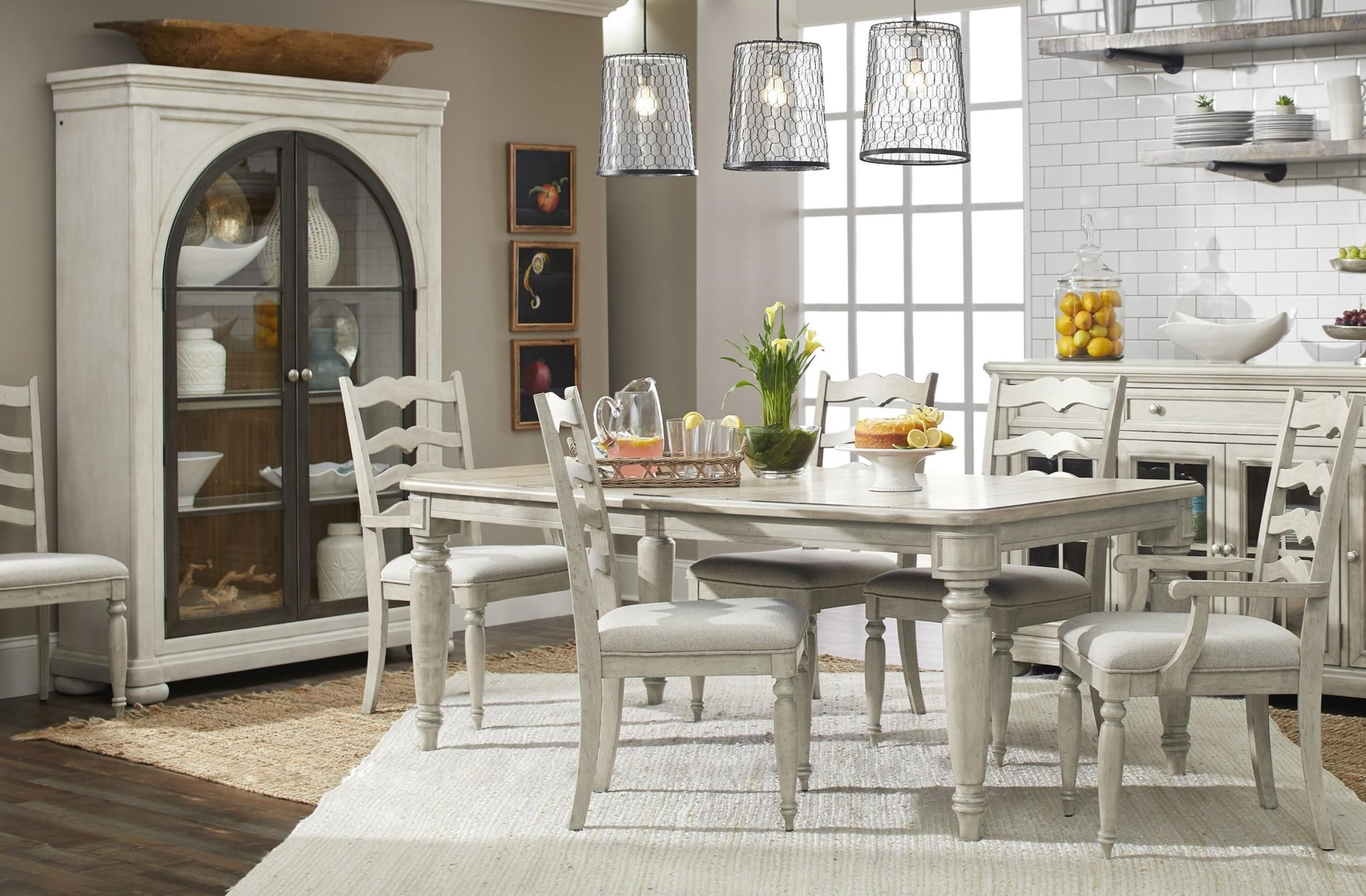 Trisha Yearwood Home Collection By Klaussner Nashville 7 Piece Dining Set With Mcguire Table And Ladderback Chairs Powell S Furniture And Mattress Dining 7 Or More Piece Sets