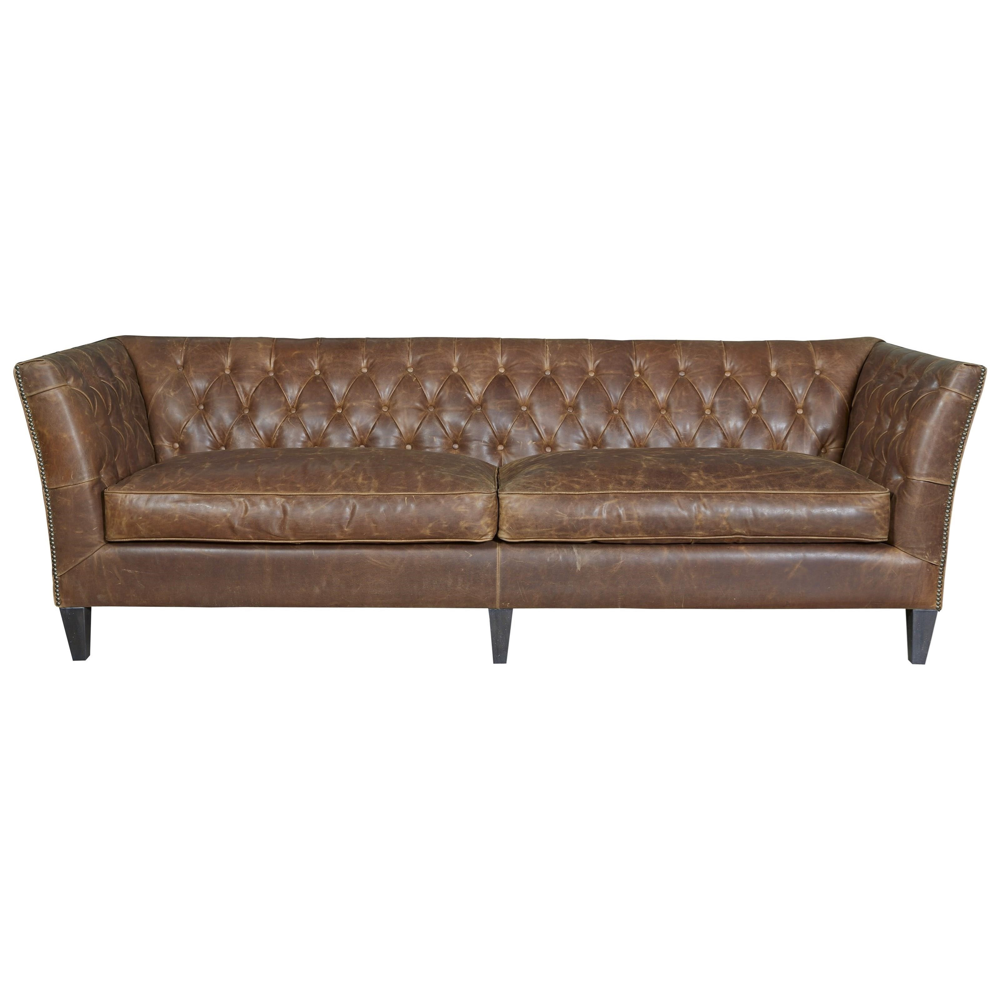 tufted leather sofa cheap sectional canada wittman co duncan traditional in diamond by