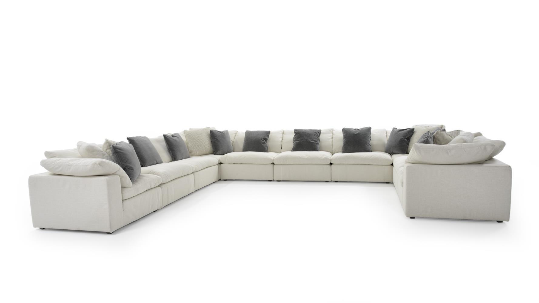 ten piece sectional sofa group