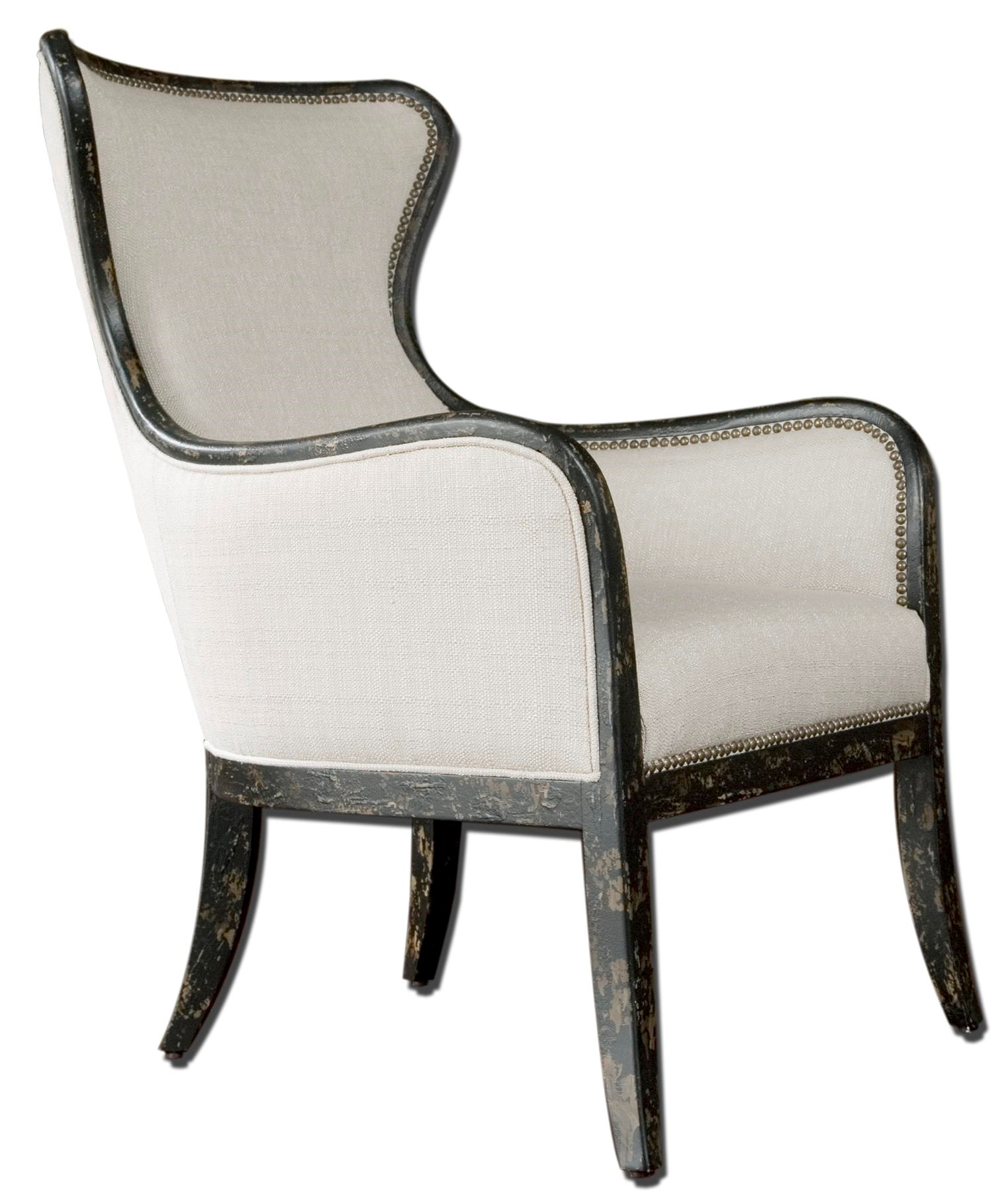 Modern Wing Chair Accent Furniture Accent Chairs Sandy Modern Wing Chair By Uttermost At Rotmans