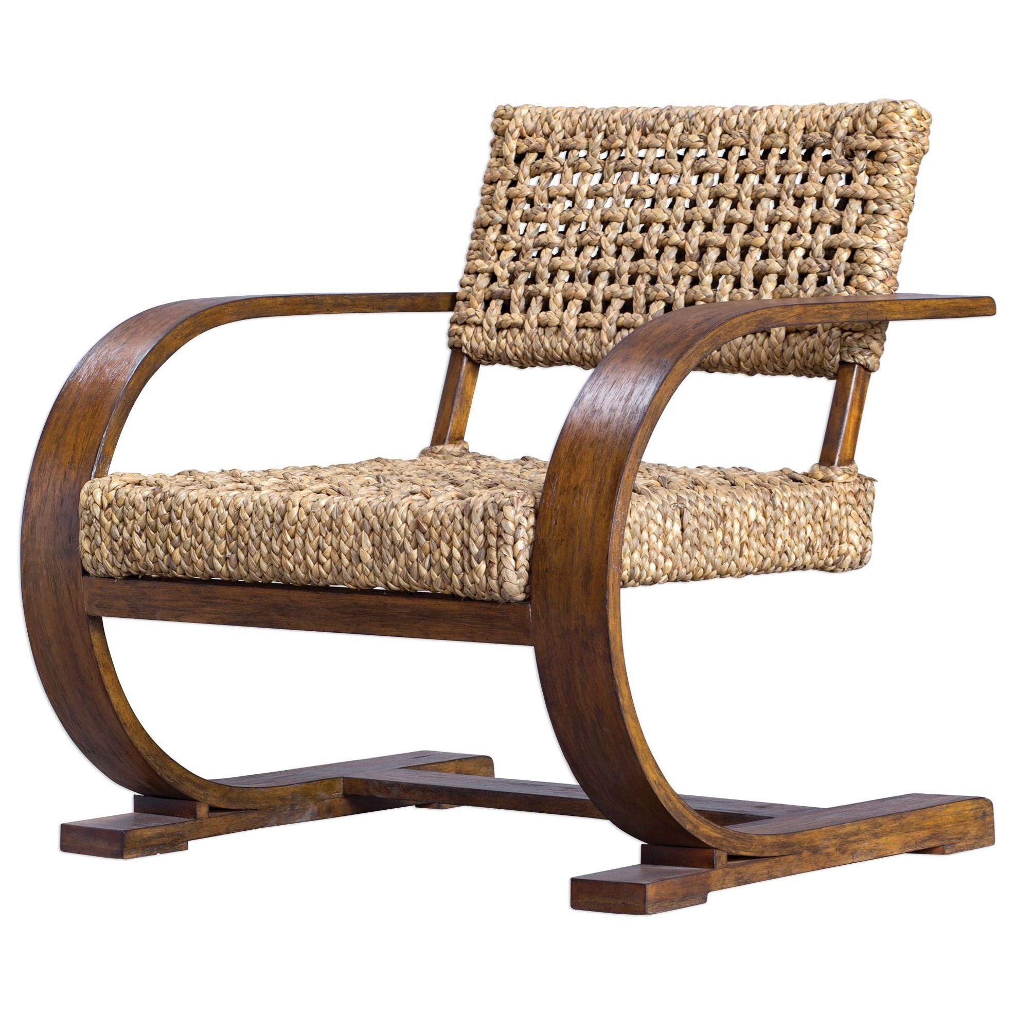 Banana Rocker Chair Uttermost Accent Furniture Accent Chairs Rehema Natural Woven