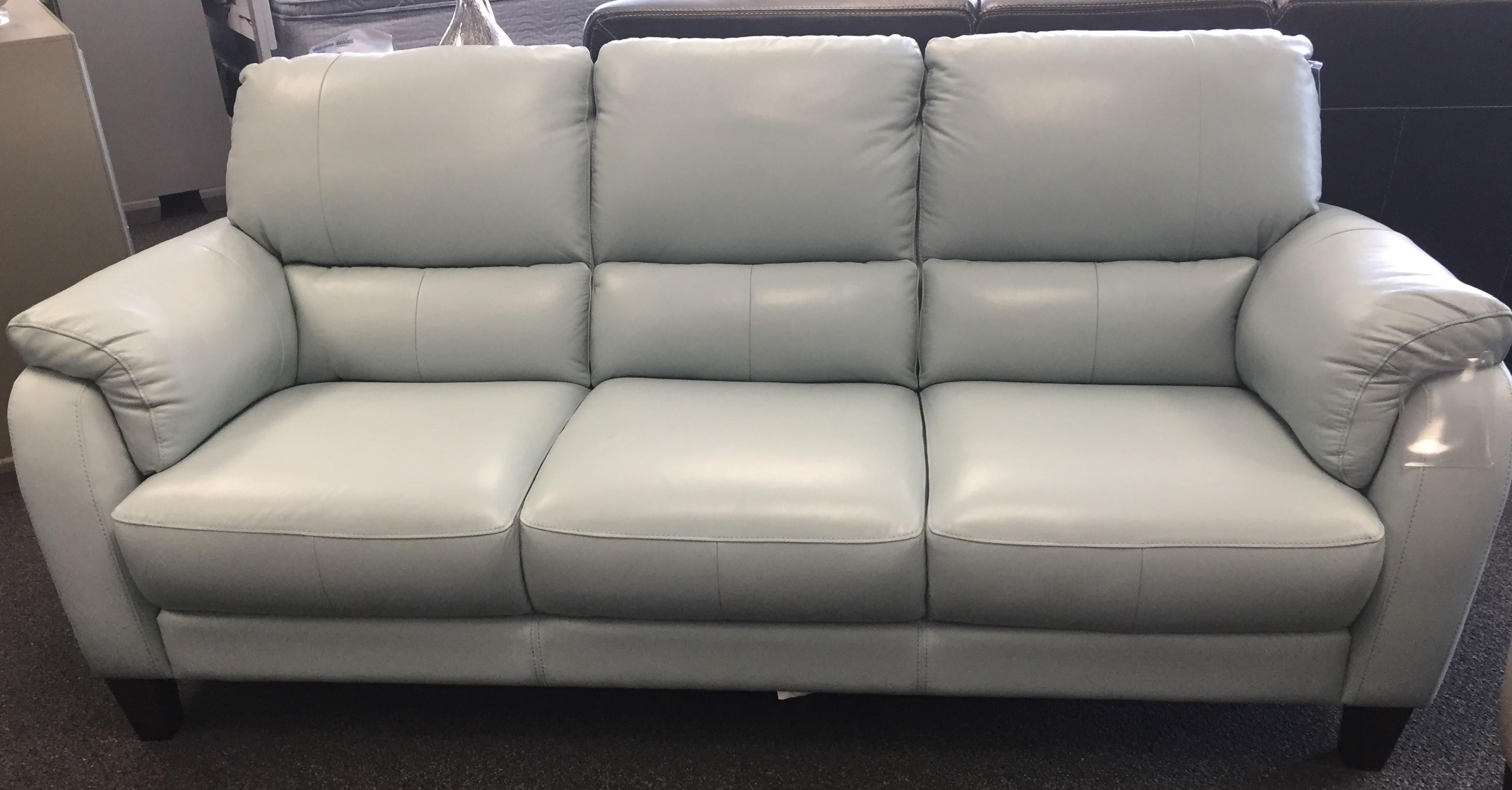 31933 egg blue leather sofa