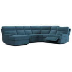 Sectional Sofas Recliners Down Feather Sofa Reviews Violino 32146 Contemporary 6 Piece Power Reclining With 2 And Headrests