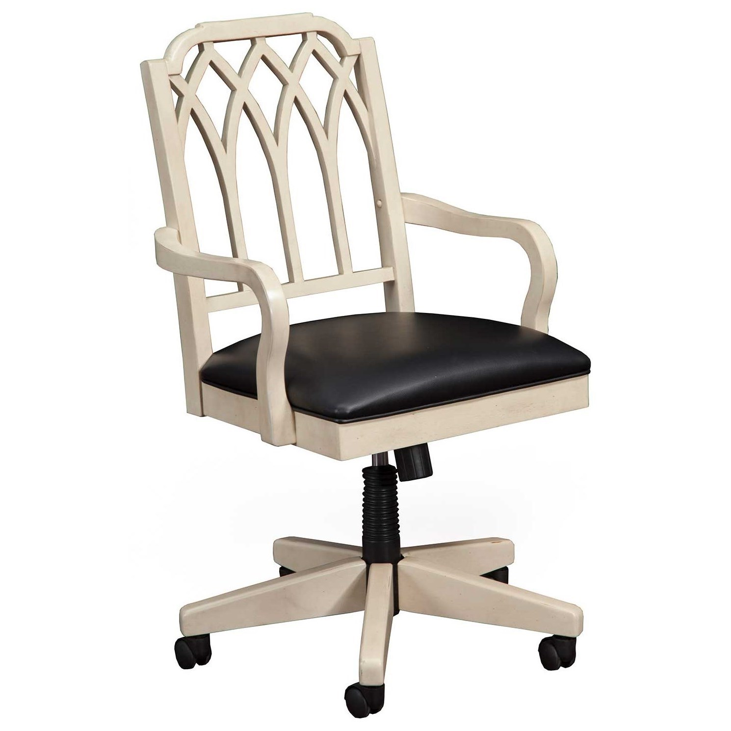 vintage office chairs mesh chair back support winners only artisan relaxed with easy to clean upholstered seat by