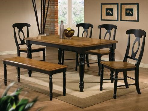 kitchen table chairs set faucet winners only quails run 6 piece leg napoleon side chair and run6 dining bench