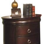 Renaissance Three Drawer Oval Nightstand