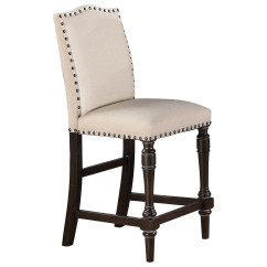 Upholstered Counter Height Chairs Panasonic Massage Chair Winners Only Xcalibur Barstool With Nailhead By