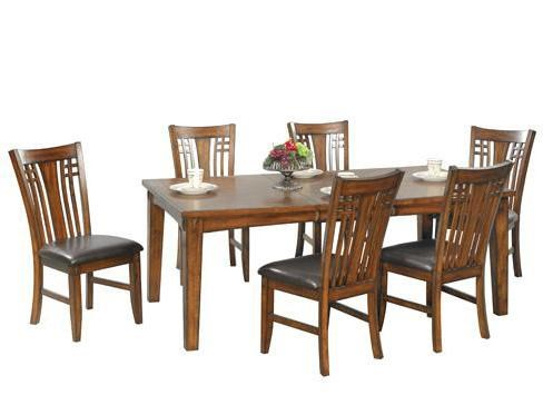 Dining Room Chair Sets Zahara 7 Piece Leg Dining Table And Side Chair Set By Winners Only At Lindy S Furniture Company