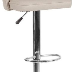 Stool Chair Adjustable Massage Pads Winslow Home Barstools Win 5836 Height Barstool In Beige Fabric