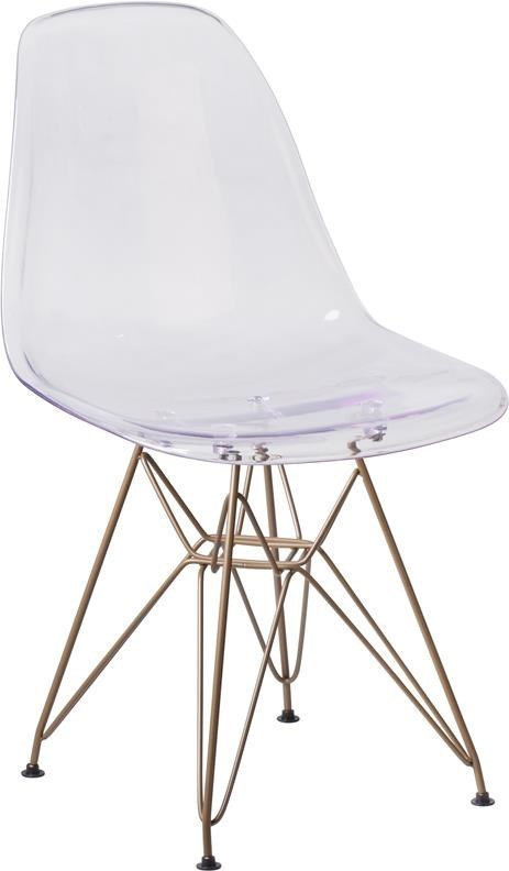 Plastic Clear Chair Elon Side Chair Series Clear Plastic Ghost Chair With Gold Base By Winslow Home At Sam Levitz Furniture