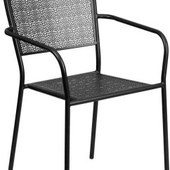 Black Patio Chairs Ostrich Beach Review Winslow Home Metal Indoor Outdoor Win 1609 Steel Arm Chair With Square Back