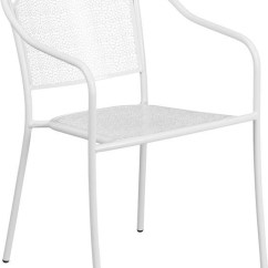 Steel Net Chair Christmas Bow Covers Winslow Home Metal Indoor Outdoor Chairs Win 1616 White Patio Arm With Round Back