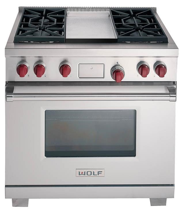 wolf kitchen ranges high gloss cabinets df364g36 freestanding dual fuel range with 4 burners and ranges36