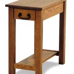 Amish Built Sofa Tables What Color Walls With Blue Seeley Oak Chairside Table Rotmans End
