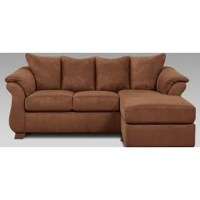 Affordable Furniture Chocolate Sofa/Chaise - Ivan Smith ...