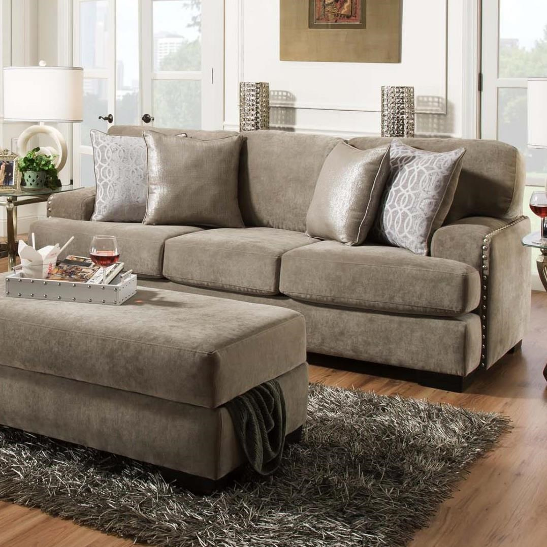 8642 transitional sectional sofa with chaise by albany ultrasuede sofas simmons upholstery thesofa