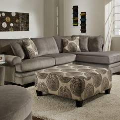 8642 Transitional Sectional Sofa With Chaise By Albany Lucas Beige Orange Leather Set Essence Grp 8645 2