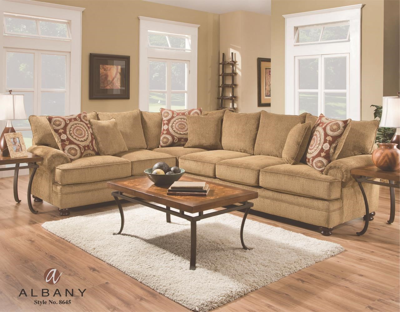 8642 transitional sectional sofa with chaise by albany small living room ideas corner essence grp 8645 2