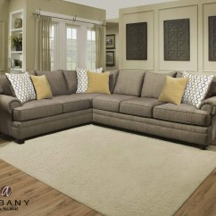 8642 Transitional Sectional Sofa With Chaise By Albany L Shaped Bed Uk Laf And