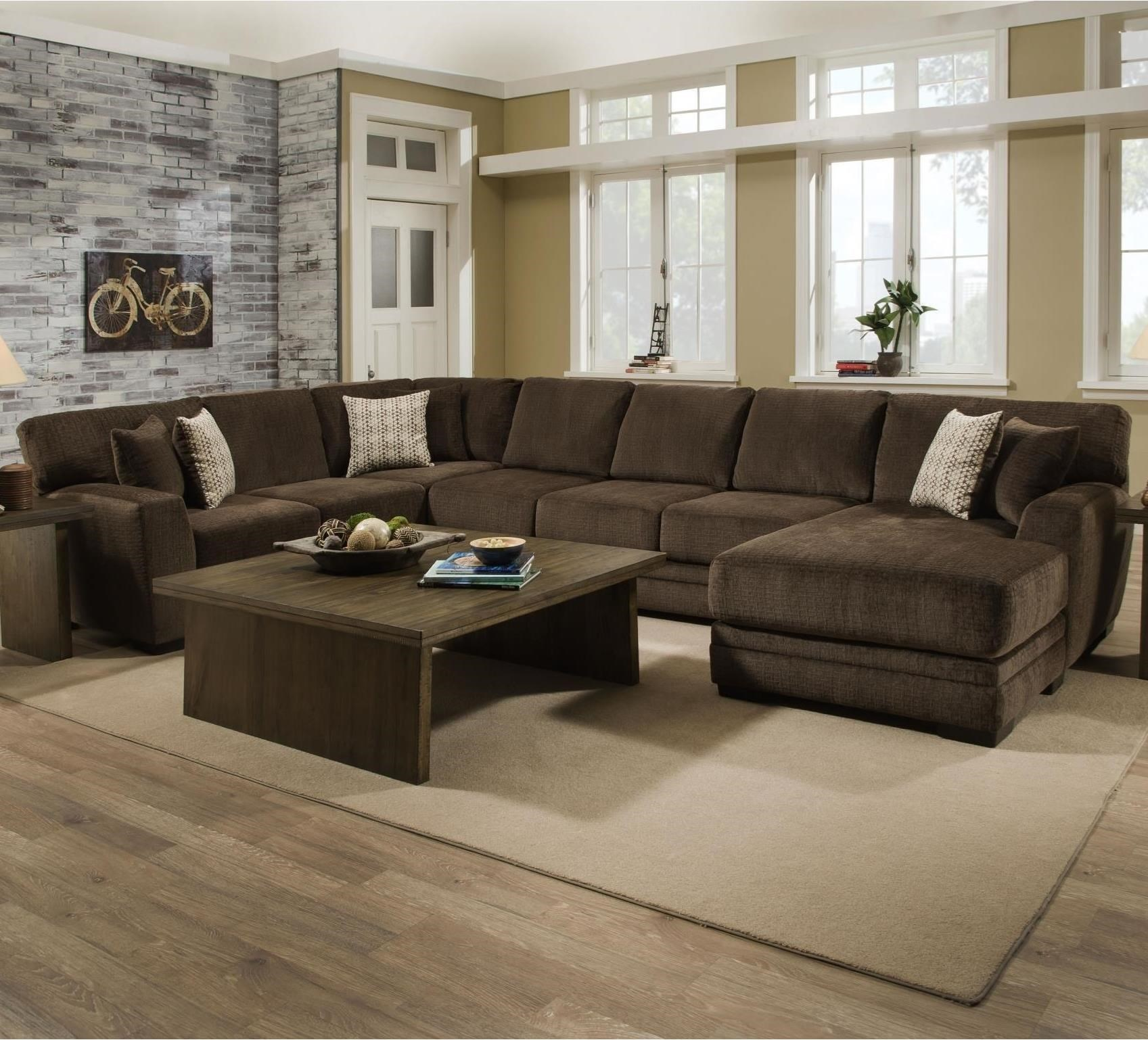 8642 transitional sectional sofa with chaise by albany antique bed essence grp 8645 2