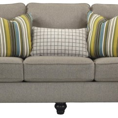 Navasota Charcoal Sofa Ashley Furniture Inflatable Double Couch Air Bed Home