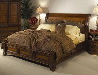 Aspenhome Napa King-Size Bed with Sleigh Headboard ...