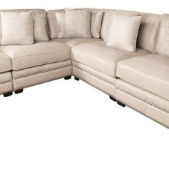Bernhardt Cantor Sectional Sofa Living Room Ideas With Grey Leather Germain Modern Plush