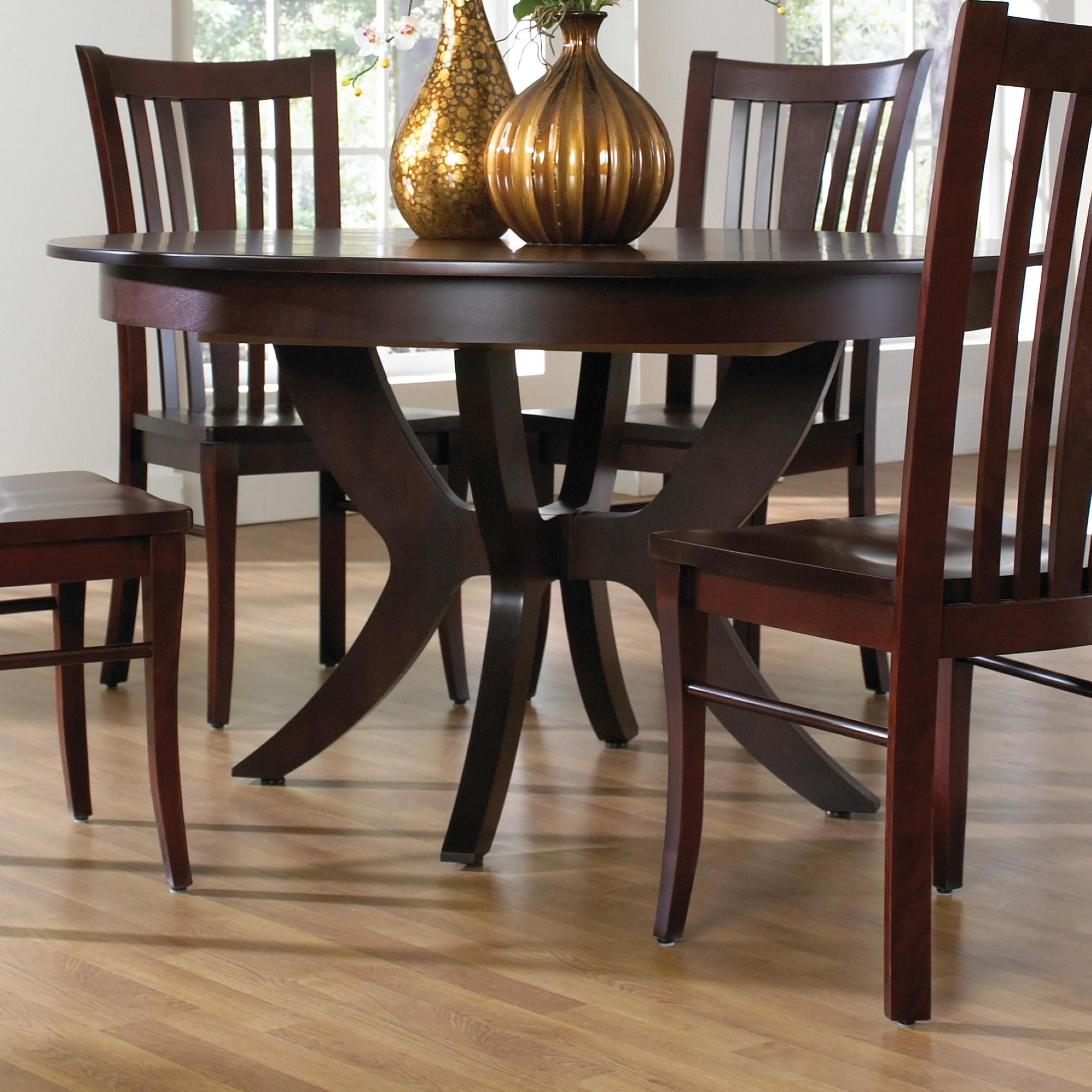 Canadel Custom Dining Customizable Round Table With Pedestal Darvin Furniture Kitchen Table