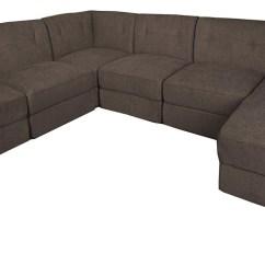 Harper Fabric 6 Piece Modular Sectional Sofa Modern Bed Uk Carrington