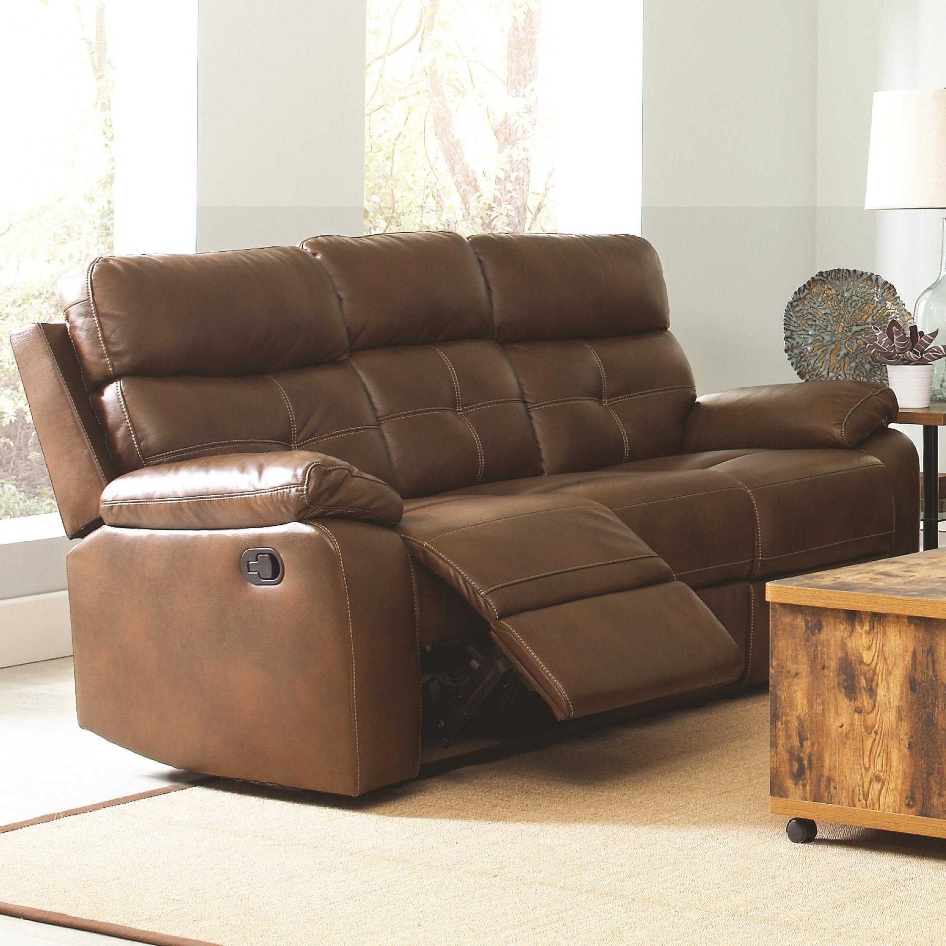 abbyson living bradford faux leather reclining sofa dark brown wicker corner uk recliner saddle dawson