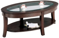 Coaster Simpson Coffee Table with Glass Top - Value City ...