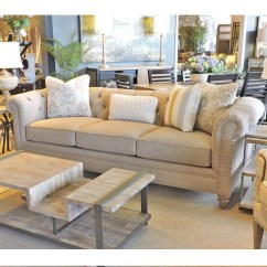 Emma Tufted Sofa Beige Reclining Furniture Gold Velvet Chaise