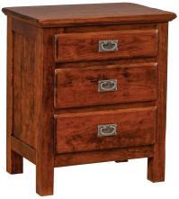 Daniel's Amish Lewiston 3-Drawer Nightstand - Conlin's ...