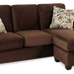 Simmons Reversible Chaise Sofa In Target Chocolate Baci Living Room